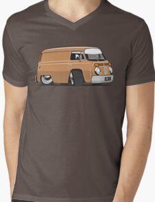 VW T2 van cartoon brown Mens V-Neck T-Shirt