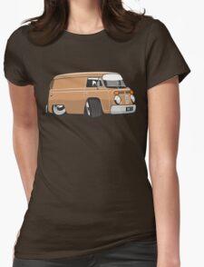 VW T2 van cartoon brown Womens Fitted T-Shirt