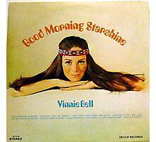 Good Morning Starshine, 60's Hippie Girl Album Cover Photographic Print