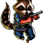 rocket raccoon by Fabisvar