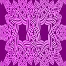 An All Purple Knotwork design by Dennis Melling