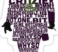 Joker from The Dark Knight Typography Design of His Quote Sticker