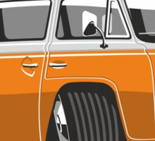 VW T2 Microbus cartoon orange Sticker