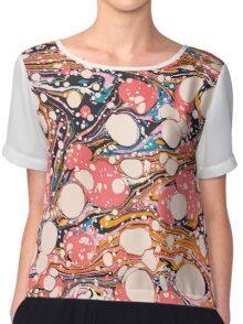 Psychedelic Retro Marbled Paper Chiffon Top