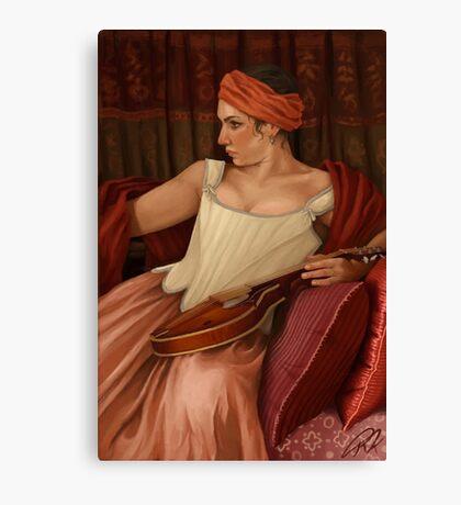 Girl with the Mandolin  Canvas Print