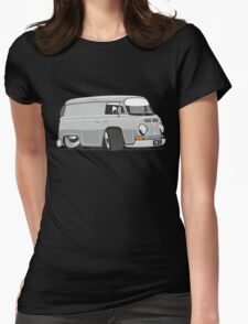 VW T2 van cartoon grey Womens Fitted T-Shirt