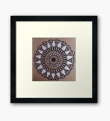 Tri-Color Mandala Framed Print