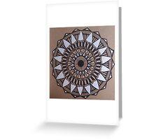 Tri-Color Mandala Greeting Card
