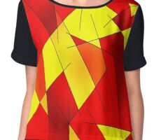 ABSTRACT LINES-1 (Reds, Oranges & Yellows)-(9000 x 9000 px) Chiffon Top