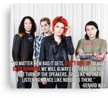 Gerard Way Quote #4 Canvas Print