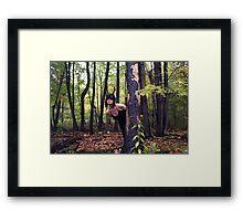 Danger in the Forest Framed Print