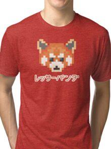Pixel Panda! レッサーパンダ Tri-blend T-Shirt