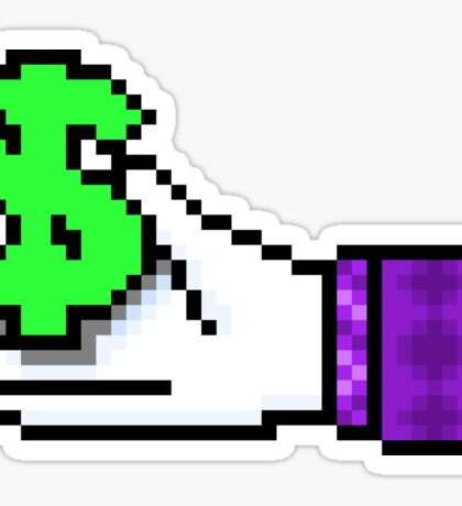 """"""" Laughing All the Way to The Bank """" - Pixels Sticker"""