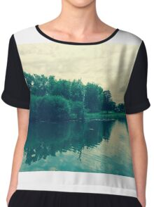 The Twin Lakes Chiffon Top