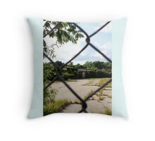 Abandoned Textile Mill Pillow Throw Pillow