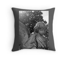 Creepy Angel Pillow Throw Pillow