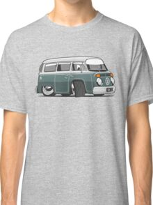 VW T2 Microbus cartoon green Classic T-Shirt
