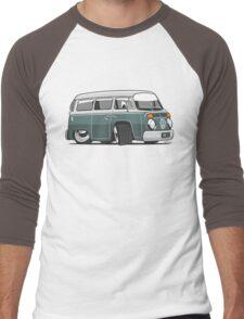 VW T2 Microbus cartoon green Men's Baseball ¾ T-Shirt