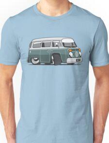 VW T2 Microbus cartoon green Unisex T-Shirt