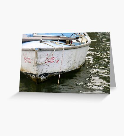 Little bote, Little boat Greeting Card