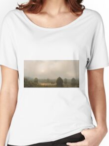 Martin Johnson Heade - The Great Swamp 1868. Field landscape: field landscape, nature, village, garden, flowers, trees, sun, rustic, countryside, sky and clouds, summer Women's Relaxed Fit T-Shirt