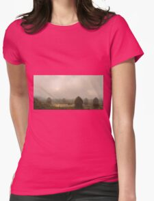 Martin Johnson Heade - The Great Swamp 1868. Field landscape: field landscape, nature, village, garden, flowers, trees, sun, rustic, countryside, sky and clouds, summer Womens Fitted T-Shirt