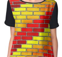 BRICK WALL-2 (Reds, Oranges & Yellows)-(9000 x 9000 px) Chiffon Top