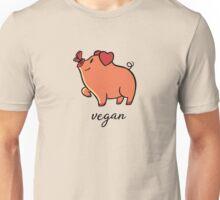 Vegan Pig Butterfly Unisex T-Shirt
