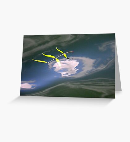 Floating on the river Greeting Card