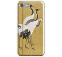 Maruyama okyo - First Of A Pair Of 6 Panel Screens. Bird painting: cute fowl, fly, wings, lucky, pets, wild life, animal, birds, little small, bird, nature iPhone Case/Skin