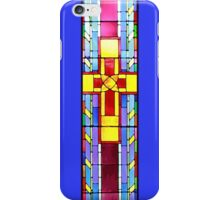 Stained Glass Crucifix - Blue iPhone Case/Skin