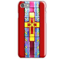 Stained Glass Crucifix - Red iPhone Case/Skin
