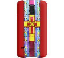 Stained Glass Crucifix - Red Samsung Galaxy Case/Skin