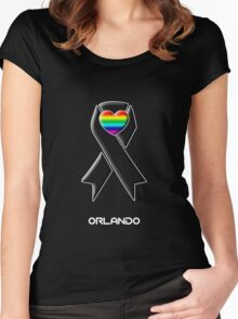 Solidarity with Orlando -- Gay Rights Women's Fitted Scoop T-Shirt