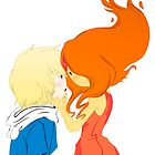 Flame Princess and Finn by SarahSweetie