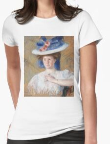 Mary Cassatt - Portrait Of Helen Sears, Daughter Of Sarah Choate Sears. Woman portrait: girly art, female style, sensual pretty women, femine, beautiful dress, cute, creativity, love, temptation Womens Fitted T-Shirt