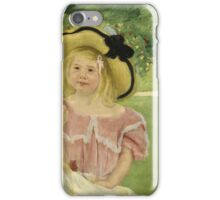 Mary Cassatt - In The Garden. Mother with kid portrait: cute girl, mother and daughter,  Garden, girly, headdress, beautiful dress, lovely family, mothers day, memory, mom mum mam, face with hairs iPhone Case/Skin