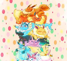 Fat Eeveelutions by ravefirell