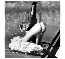 Champers and Shoes Poster
