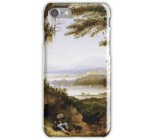 James Hamilton - Scene On The Hudson . Mountains landscape: mountains, rocks, rocky nature, sky and clouds, trees, peak, forest, rustic, hill, travel, hillside iPhone Case/Skin