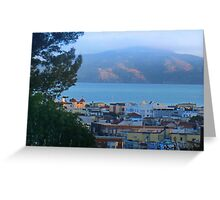 Cow Hollow, Bay and Angel Island Greeting Card