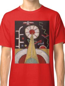 Marsden Hartley - Painting No. 3. Abstract painting: abstract art, geometric, expressionism, composition, lines, forms, creative fusion, spot, shape, illusion, fantasy future Classic T-Shirt