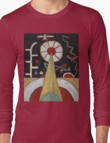 Marsden Hartley - Painting No. 3. Abstract painting: abstract art, geometric, expressionism, composition, lines, forms, creative fusion, spot, shape, illusion, fantasy future Long Sleeve T-Shirt