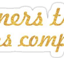 Winners train... Gym Motivational Quote Sticker