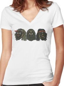"""Flatbush Zombies """"3 Zombies 2016 Tour Tee"""" Women's Fitted V-Neck T-Shirt"""