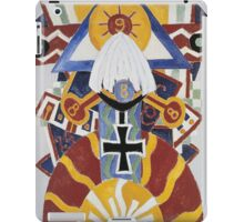 Marsden Hartley - Painting Number 49, Berline. Abstract painting: abstract art, geometric, expressionism, composition, lines, forms, creative fusion, spot, shape, illusion, fantasy future iPad Case/Skin