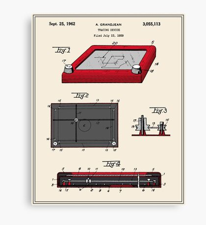 Etch-A-Sketch Patent Canvas Print