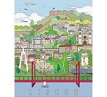 Lisbon City Poster Photographic Print