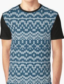 Christmas blue knitting pattern Graphic T-Shirt