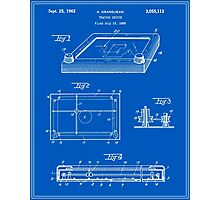 Etch-A-Sketch Patent - Blueprint Photographic Print